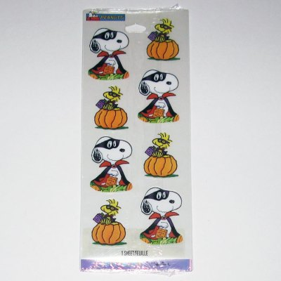 Snoopy and Woodstock Halloween Stickers