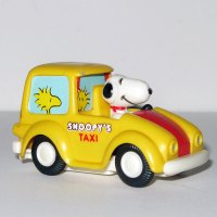 Snoopy Taxi Friction Car