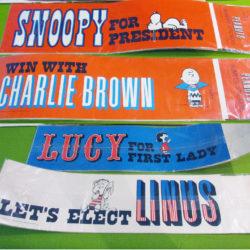 Peanuts Presidential Bumper Stickers