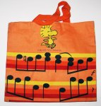 Snoopy and Woodstock Singing Tote Bag