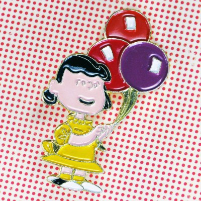 Lucy with Balloons Pin