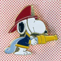 Snoopy Firefighter Pin