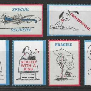 Peanuts Postage Stickers