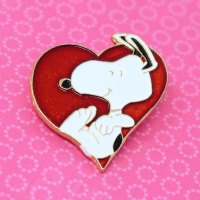 Snoopy on Heart Pin