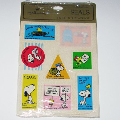 Snoopy and Woodstock Mail Seals