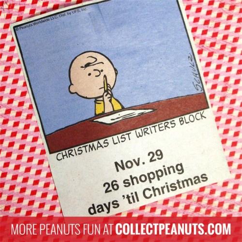 Peanuts Christmas Countdown - November 29