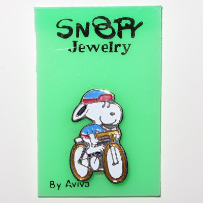 Snoopy on Bicycle Pin