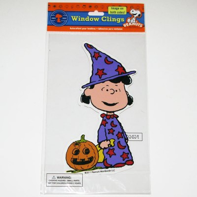 Lucy Witch Halloween Window Gel Cling
