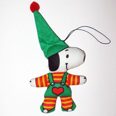 Snoopy Elf Stuffed Christmas Ornament