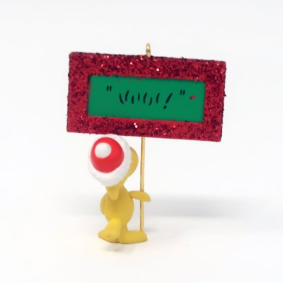 Woodstock holding sign Christmas Ornament