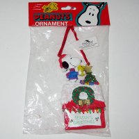 Snoopy & Woodstock Decorating Doghouse Christmas Ornament