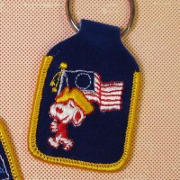 Snoopy with American Flag Keychain