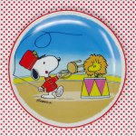 Snoopy Flyin' Tamer with Woodstock Plate