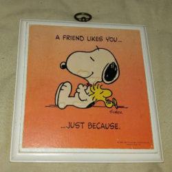 Snoopy Hallmark Plaque