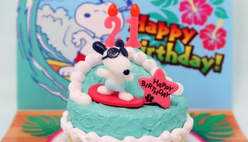 Pleasing Snoopy Skating Birthday Cake Collectpeanuts Com Personalised Birthday Cards Paralily Jamesorg