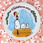 Snoopy 1975 Christmas Plate