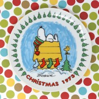 Snoopy 1973 Christmas Plate