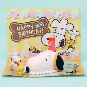 Snoopy Pastry Birthday Cake