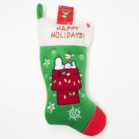 Snoopy & Woodstock on doghouse Christmas Stocking