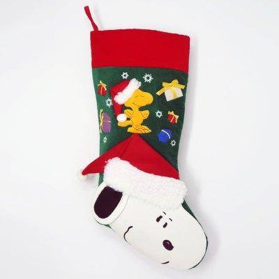 Santa Snoopy and Woodstock Christmas Stocking