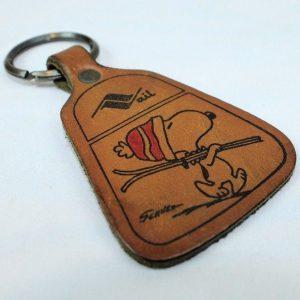 Snoopy Leather Keychain