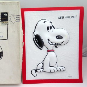 Snoopy 3-D Greeting Card