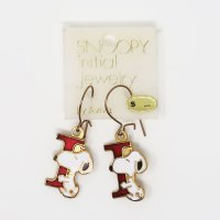 Snoopy holding letter I Earrings