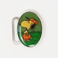 Baseball Snoopy Belt Buckle