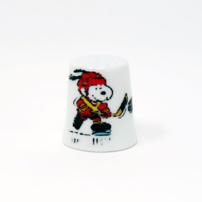 Hockey Snoopy Thimble