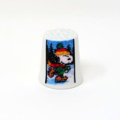 Ice Skating Snoopy Thimble