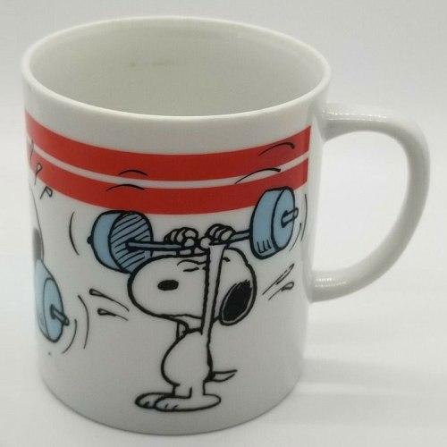 Snoopy Weightlifting Mug