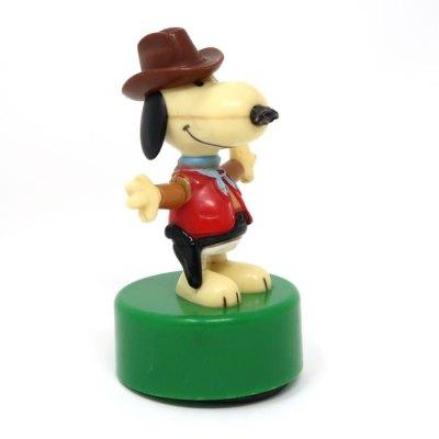 Snoopy Cowboy Push Puppet