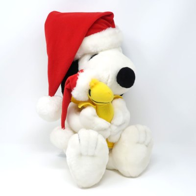 Santa Snoopy hugging Woodstock Christmas Plush Toy