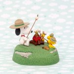 Snoopy & Beaglescouts around campfire Christmas Ornament