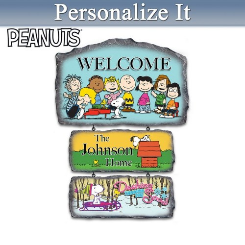 Peanuts Welcome Sign
