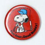 Snoopy with CB Radio Button