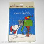 Snoopy at mailbox in winter Invitations