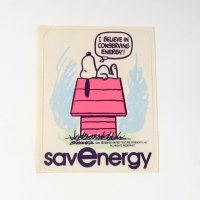 Snoopy Save Energy Sticker