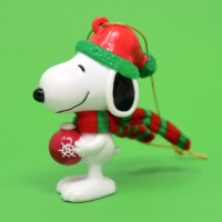 Snoopy Wearing Scarf Ornament