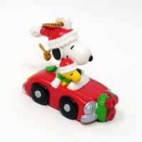 Snoopy and Woodstock in Christmas Car Ornament