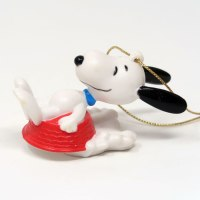 Snoopy Sledding in Dog Dish Ornament