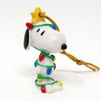 Snoopy Wrapped in Christmas Lights Ornament