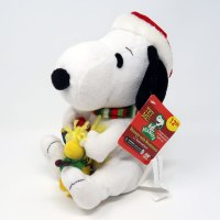 Christmas Lights Snoopy & Woodstock Animated Plush