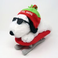 Snoopy Joe Cool on Sled Plush Toy