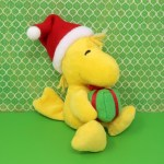 Woodstock Holding Christmas Gift Plush Toy