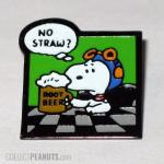 Snoopy Flying Ace with rootbeer 'No Straw?' Pin