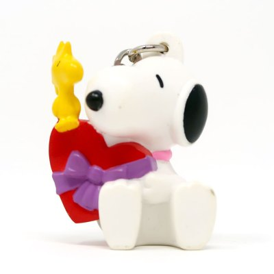 Snoopy and Woodstock with Heart Box Valentine's Day PVC Keychain