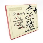 Snoopy 'Be Yourself' Plaque