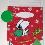 Santa Snoopy with sleigh pulled by Woodstocks Gift Card Bag