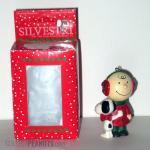 Snoopy hugging Charlie Brown Christmas Ornament